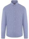 Рубашка хлопковая приталенная oodji #SECTION_NAME# (синий), 3L110394M/49757N/7510S