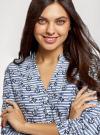 Блузка вискозная с рукавом-трансформером 3/4 oodji #SECTION_NAME# (синий), 11403189-1/26346/7412O - вид 4