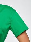 Платье-рубашка с поясом oodji #SECTION_NAME# (зеленый), 21900311/42358/6D00N - вид 5