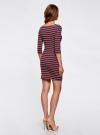 Платье трикотажное базовое oodji для женщины (разноцветный), 14001071-2B/46148/7545S - вид 3