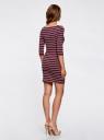 Платье трикотажное базовое oodji #SECTION_NAME# (разноцветный), 14001071-2B/46148/7545S - вид 3