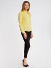 Рубашка приталенная с V-образным вырезом oodji #SECTION_NAME# (желтый), 11402092B/42083/6700N - вид 6