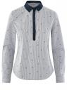 Рубашка принтованная oodji #SECTION_NAME# (синий), 13K03002-3B/45202/1079S