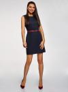 Платье льняное без рукавов oodji #SECTION_NAME# (синий), 12C00002-1B/16009/7900N - вид 2
