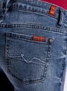 Джинсы укороченные с потертостями oodji для женщины (синий), 12103155/43322/7500W