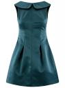 Платье приталенное с V-образным вырезом на спине oodji #SECTION_NAME# (зеленый), 12C02005/24393/6C00N