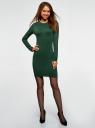 Платье вязаное базовое oodji для женщины (зеленый), 73912217-3B/45647/6900M