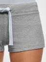 Шорты базовые трикотажные oodji для женщины (серый), 17001029-4B/46155/2300M