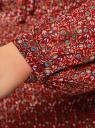 Блузка гофрированная с завязками oodji #SECTION_NAME# (красный), 11414005/46166/4943F - вид 5