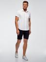 Рубашка базовая с коротким рукавом oodji #SECTION_NAME# (белый), 3B210007M/34246N/1000N - вид 6