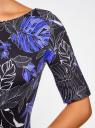 Платье с вырезом-лодочкой oodji #SECTION_NAME# (черный), 24008310-1/37809/2975F - вид 5