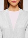 Кардиган без застежки с карманами oodji #SECTION_NAME# (серый), 73212397B/45904/2000M - вид 4