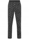 Брюки пижамные принтованные oodji #SECTION_NAME# (черный), 7L400101I-1/47885N/2910G