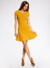 Платье трикотажное с воланами oodji #SECTION_NAME# (желтый), 14011017/46384/5200N - вид 2