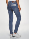 Джинсы skinny со средней посадкой oodji для женщины (синий), 12103161/46341/7500W