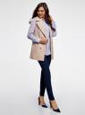 Блузка прямого силуэта с нагрудным карманом oodji для женщины (фиолетовый), 11411134B/46123/8001N