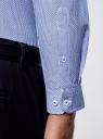 Рубашка хлопковая с контрастным воротником oodji #SECTION_NAME# (синий), 3L110310M/19370N/1075G - вид 5