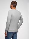 Пуловер базовый с V-образным вырезом oodji #SECTION_NAME# (серый), 4B212007M-1/34390N/2302M - вид 3
