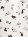Брюки трикотажные на завязках oodji для женщины (белый), 16701042-1B/46919/1229Q