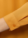 Блузка из струящейся ткани oodji #SECTION_NAME# (оранжевый), 11400368-3/32823/5200N - вид 5