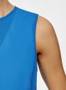 Блузка двуцветная многослойная oodji #SECTION_NAME# (синий), 14901418/26546/1275B - вид 5