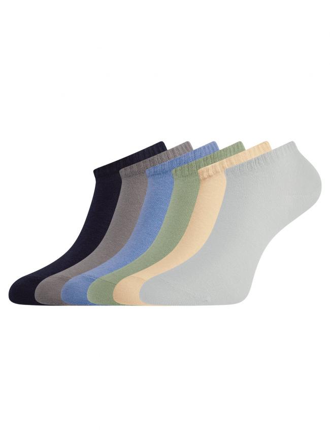 Комплект укороченных носков (6 пар) oodji для женщины (разноцветный), 57102433T6/47469/19M3N