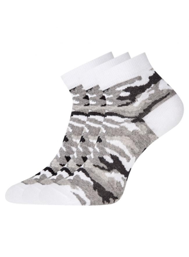 Комплект из трех пар укороченных носков oodji для женщины (разноцветный), 57102418T3/47469/26