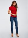 Рубашка хлопковая с коротким рукавом oodji для женщины (красный), 13K01004-1B/14885/4501N