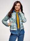 Куртка стеганая с круглым вырезом oodji для женщины (синий), 10203072B/42257/7019F - вид 2