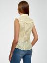 Блузка из ткани деворе oodji #SECTION_NAME# (желтый), 11405092-5/26206/5000N - вид 3
