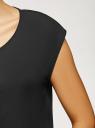 Блузка комбинированная без рукавов oodji #SECTION_NAME# (черный), 11411199/36215/2900N - вид 5