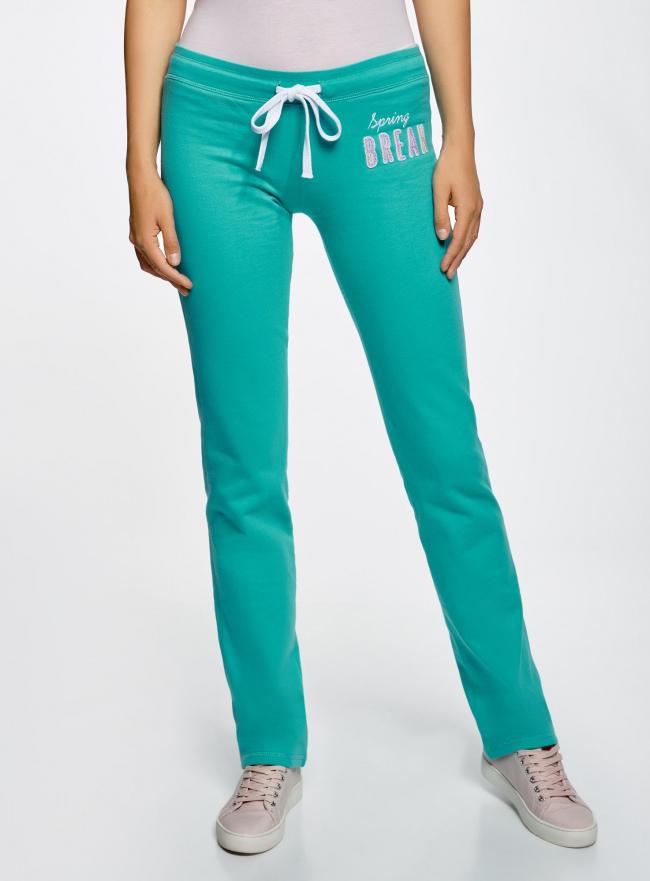 Комплект трикотажных брюк (2 пары) oodji #SECTION_NAME# (разноцветный), 16700045T2/46949/2