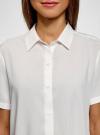 Блузка вискозная с короткими рукавами oodji #SECTION_NAME# (белый), 11411137-4B/42540/1200N - вид 4