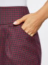 Юбка короткая с карманами oodji #SECTION_NAME# (красный), 11605056-2/22124/7943C - вид 4