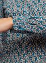 Блузка вискозная прямого силуэта oodji #SECTION_NAME# (бирюзовый), 21400394-1B/39658N/6E33F - вид 5