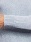 Джемпер базовый с круглым воротом oodji #SECTION_NAME# (синий), 4B112003M/34390N/7000M - вид 4
