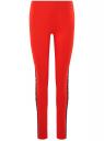Легинсы хлопковые с лампасами oodji #SECTION_NAME# (красный), 18700058/47618/4529P