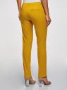 Брюки базовые летние oodji для женщины (желтый), 11704017B/14522/5701N