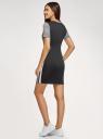 Платье облегающего силуэта с лампасами oodji #SECTION_NAME# (черный), 14011066/49534/2912G - вид 3