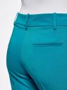 Брюки классические прямые oodji для женщины (бирюзовый), 21703075-5B/18600/7300N