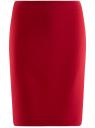 Юбка базовая прямая oodji для женщины (красный), 21611105-5B/18600/4500N