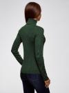 Свитер облегающего силуэта в рубчик  oodji #SECTION_NAME# (зеленый), 64412200/46629/6900M - вид 3