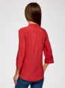 Блузка вискозная с регулировкой длины рукава oodji #SECTION_NAME# (красный), 11403225-3B/26346/4500N - вид 3