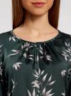 Блузка свободного кроя с вырезом-капелькой oodji #SECTION_NAME# (зеленый), 21400321-2/33116/6923O - вид 4