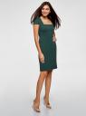 Платье-футляр из плотной ткани с квадратным вырезом oodji #SECTION_NAME# (зеленый), 21902065/31291/6900N - вид 6