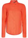 Блузка базовая из вискозы oodji #SECTION_NAME# (оранжевый), 11411136B/26346/5500N