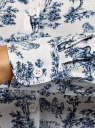 Блузка базовая из вискозы oodji для женщины (белый), 11411136B/26346/1279O