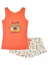 Пижама с шортами принтованная oodji #SECTION_NAME# (оранжевый), 56002187-6/47692/4329P