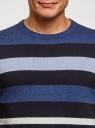 Джемпер вязаный с круглым вырезом oodji #SECTION_NAME# (синий), 4L112225M/47167N/7579S - вид 4