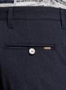 Брюки зауженные в полоску oodji для мужчины (синий), 2L150199M/49751N/7923S